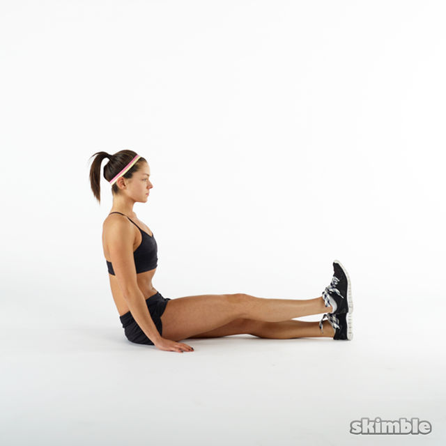 How to do: Seated Leg Lifts - Step 3