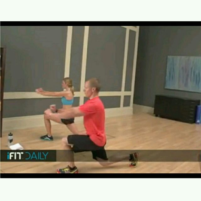 How to do: Round The Clock Lunges Version 2 - Step 2