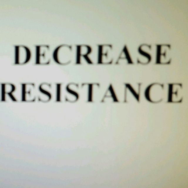 How to do: Decrease Resistance - Step 1