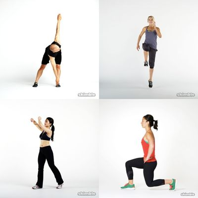 sweating workout full body