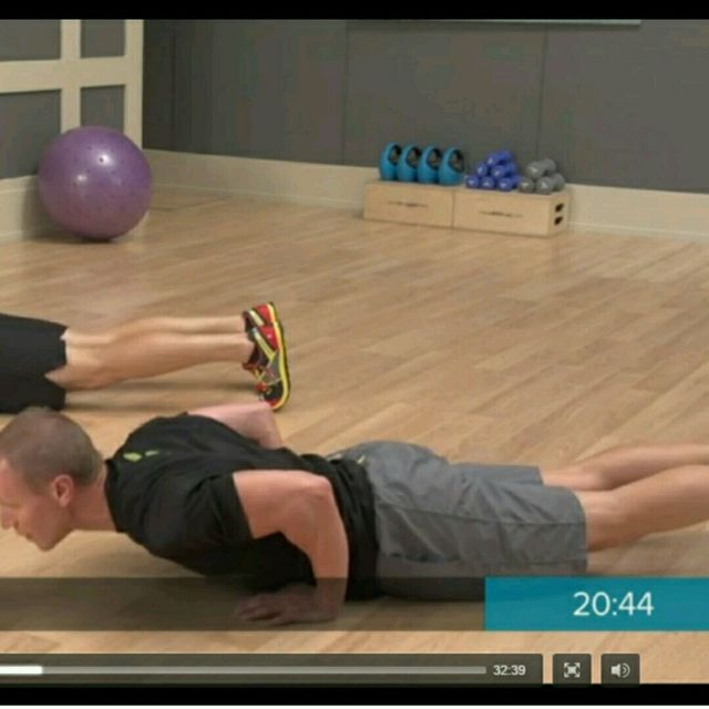 How to do: Leaning Push Ups - Step 2