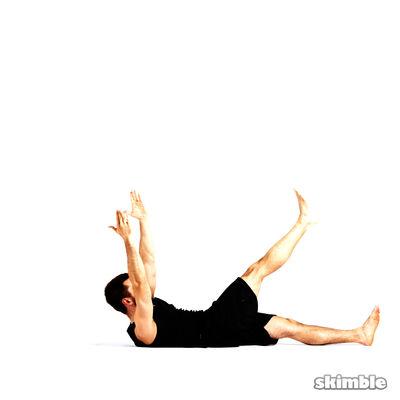 Oblicuos con toque cruzado de pierna derecha