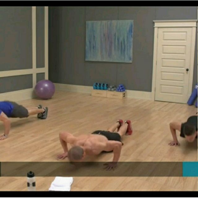 How to do: Push Up, Mountain Climbers, Jumping Jack - Step 1