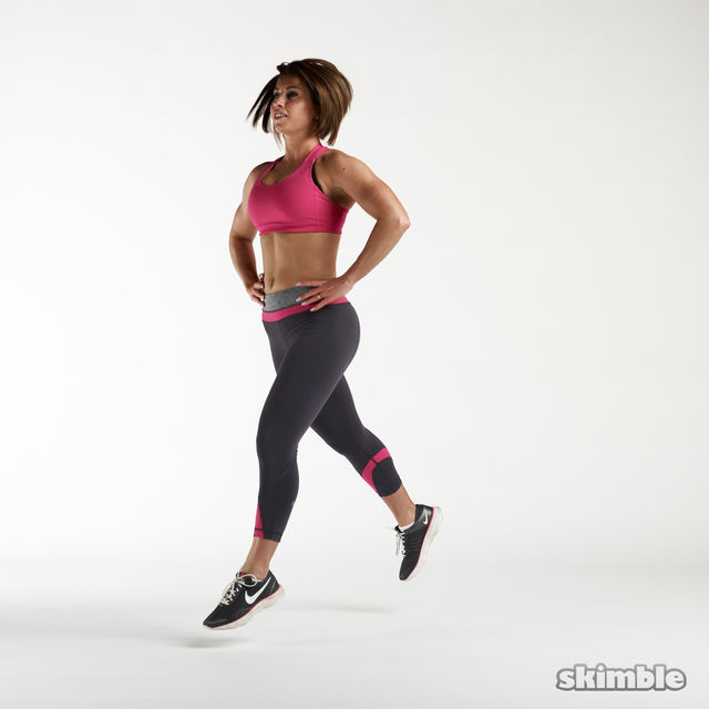 How to do: Jumping Lunges - Step 4