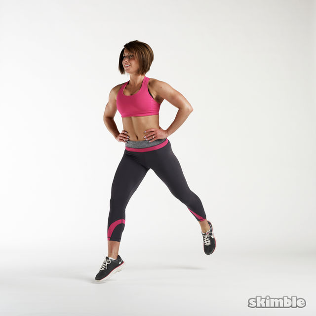 How to do: Jumping Lunges - Step 2
