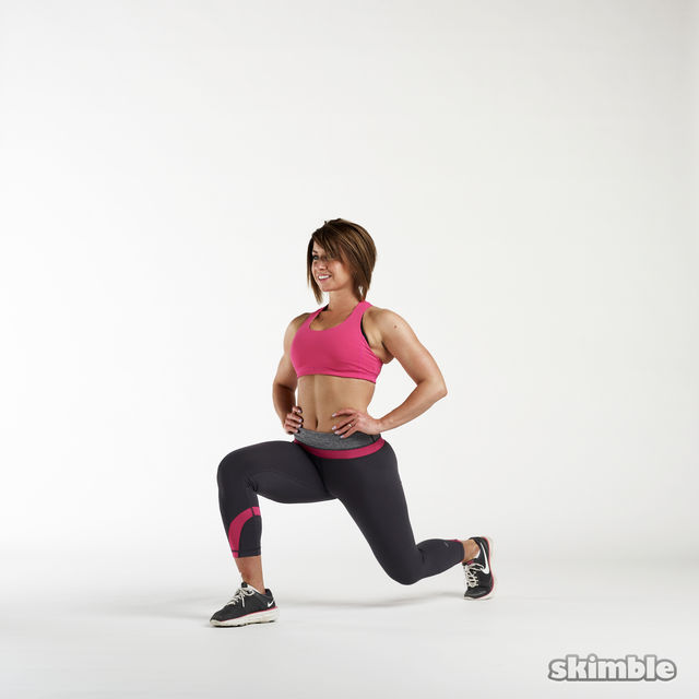 How to do: Jumping Lunges - Step 1