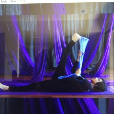 Lying Right Leg Stretch
