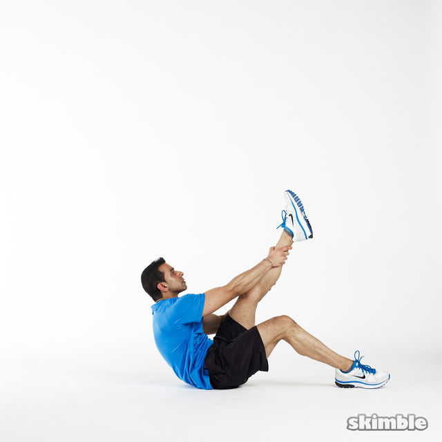 How to do: Left Leg Climbs - Step 2