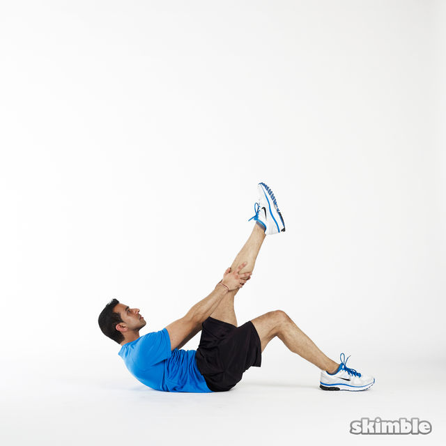 How to do: Left Leg Climbs - Step 1
