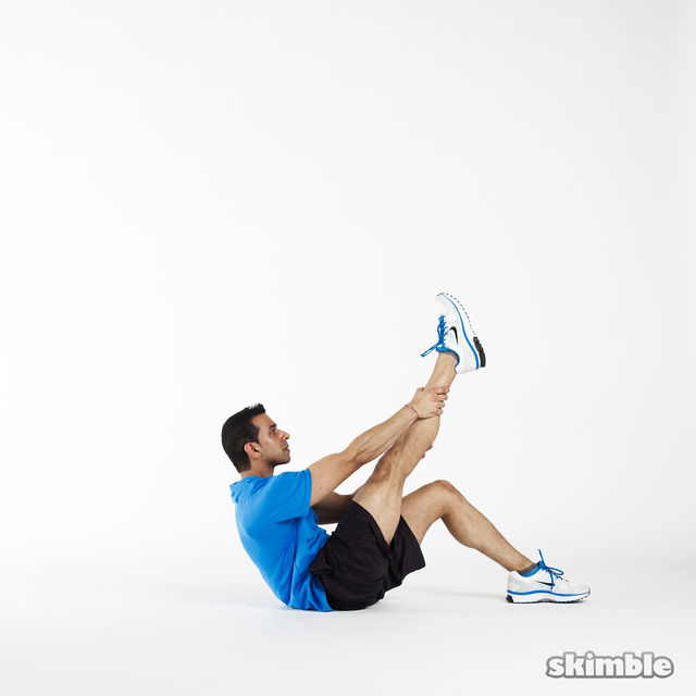 How to do: Right Leg Climbs - Step 3