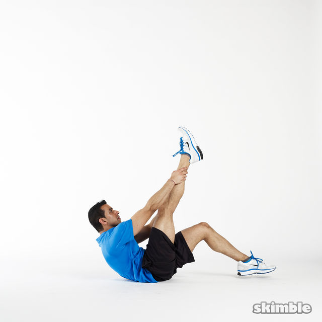 How to do: Right Leg Climbs - Step 2