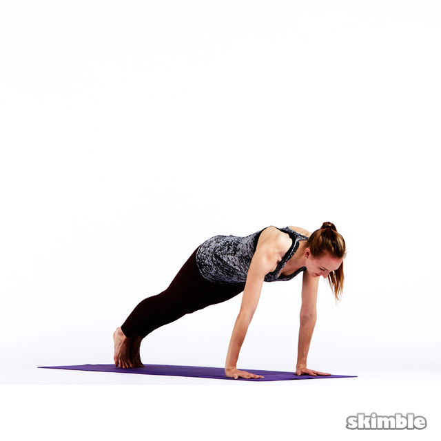 How to do: Step or Hop to Plank - Step 7