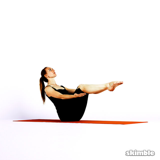 How to do: Modified Boat Pose - Step 2
