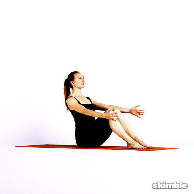 How to do: Modified Boat Pose - Step 1
