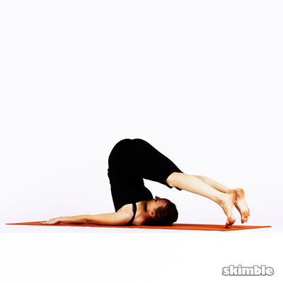 Plow Pose Walk Toes Carefully Side To Side