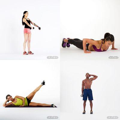 Mixed Workouts: Body & Dumbbells