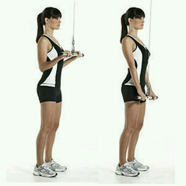How to do: Cable Triceps Extension - Step 1