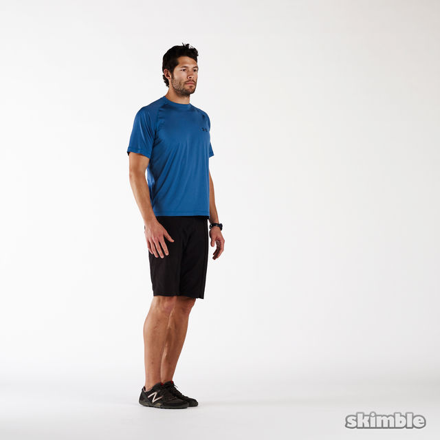 How to do: Left Hamstring Stretch - Step 2