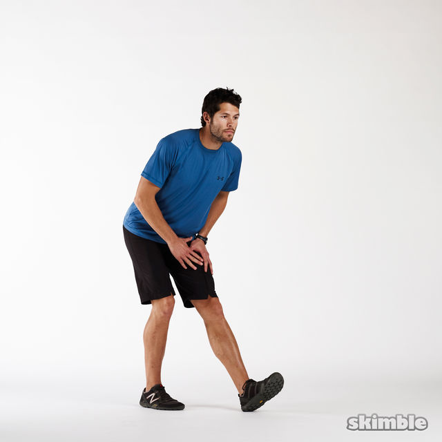 How to do: Left Hamstring Stretch - Step 1