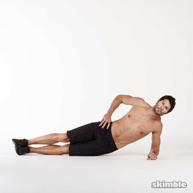 How to do: Left Side Plank Dips - Step 1