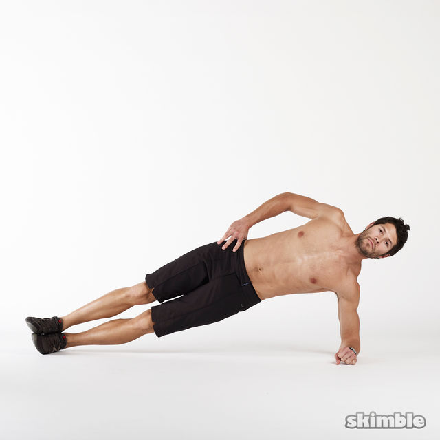 How to do: Left Side Plank Dips - Step 2