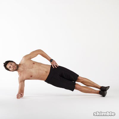 15 Right Side Plank Dips