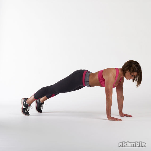 How to do: Full Plank with Leg Lifts - Step 2