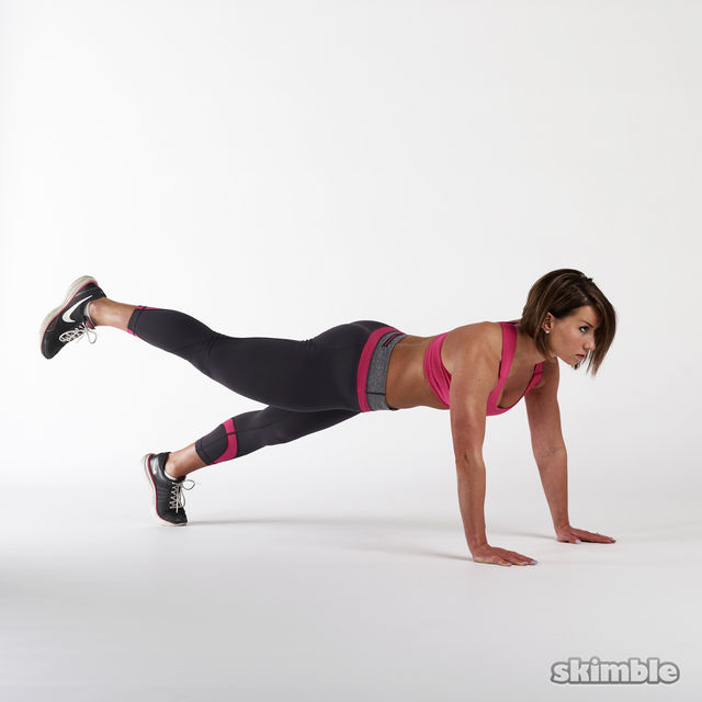 How to do: Full Plank with Leg Lifts - Step 3