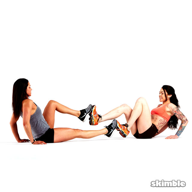 How to do: V-Sit with Foot Press - Step 5