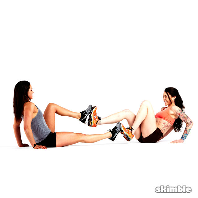 How to do: V-Sit with Foot Press - Step 3