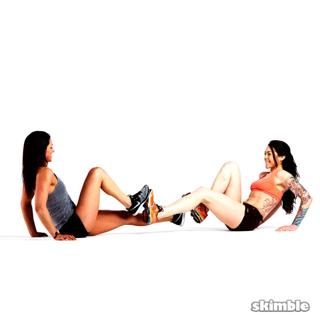 How to do: V-Sit with Foot Press - Step 2