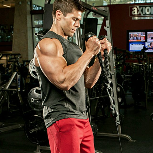 How to do: Standing Biceps Cable Curl - Step 2