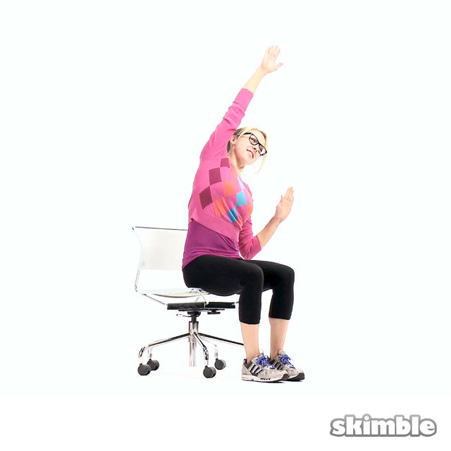 How to do: Seated Alternating Side Reaches - Step 3