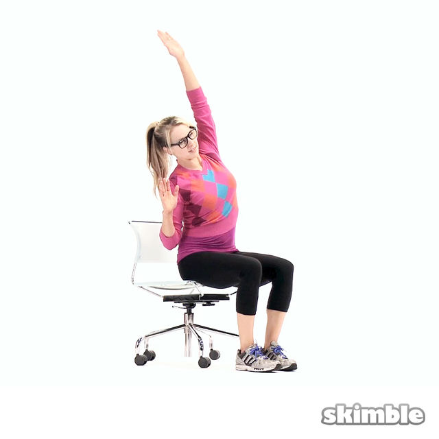 How to do: Seated Alternating Side Reaches - Step 1