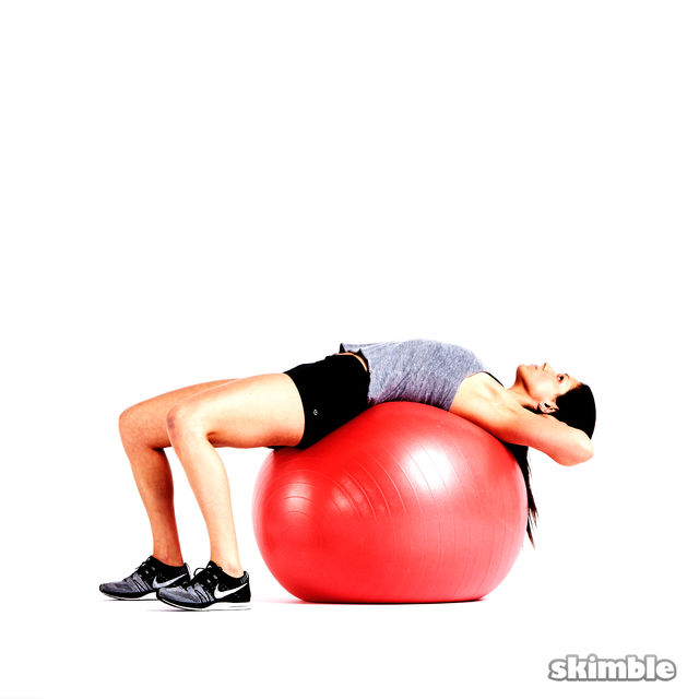 How to do: Ball Crunches - Step 5