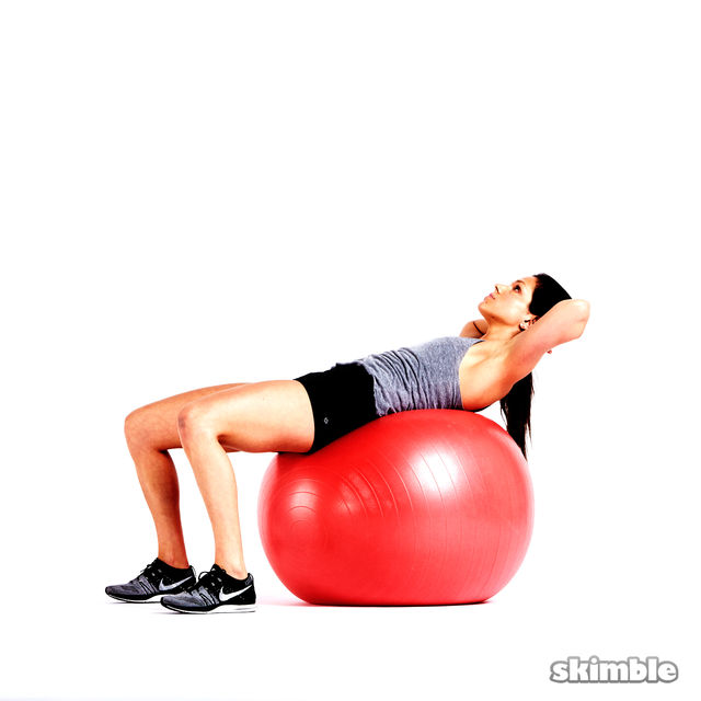 How to do: Ball Crunches - Step 2