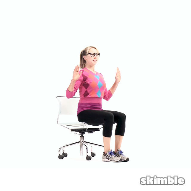 How to do: Seated Alternating Side Reaches - Step 2
