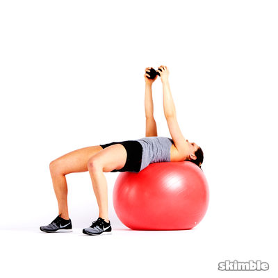 Dumbbell Pull-over on a Ball