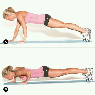 Staggered Arm Jump Pushups