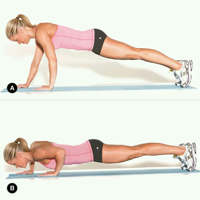 How to do: Staggered Arm Jump Pushups - Step 1