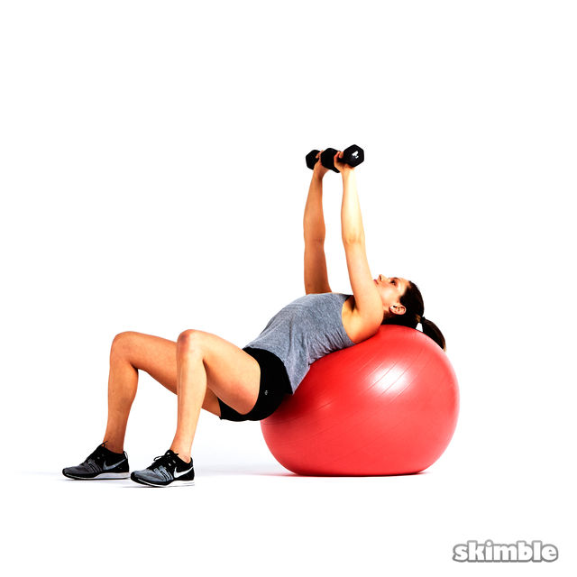 How to do: Stability Ball Chest Press with Glute Raises - Step 4