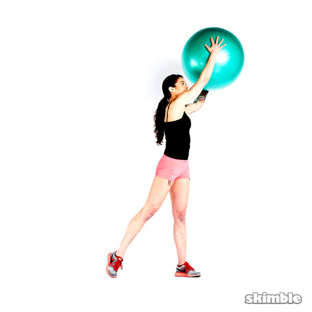 How to do: Squats with Ball Reaches - Step 4