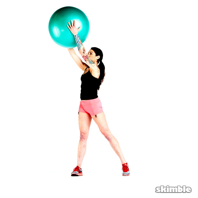 How to do: Squats with Ball Reaches - Step 1