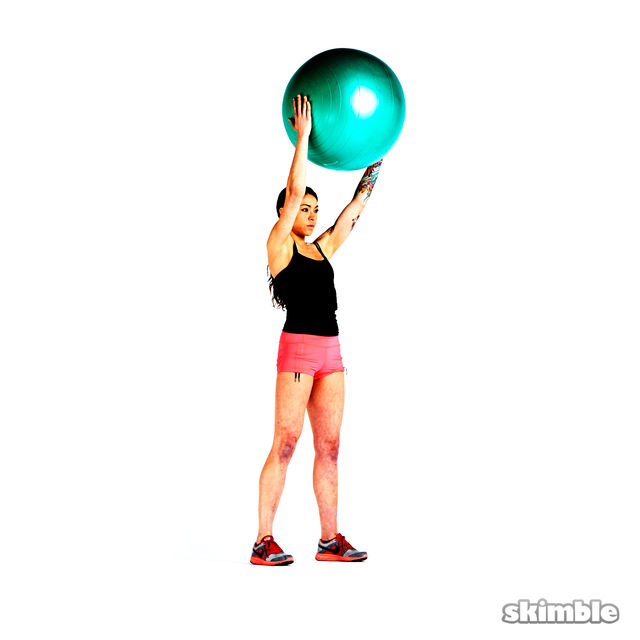 How to do: Overhead Squat with Ball - Step 4
