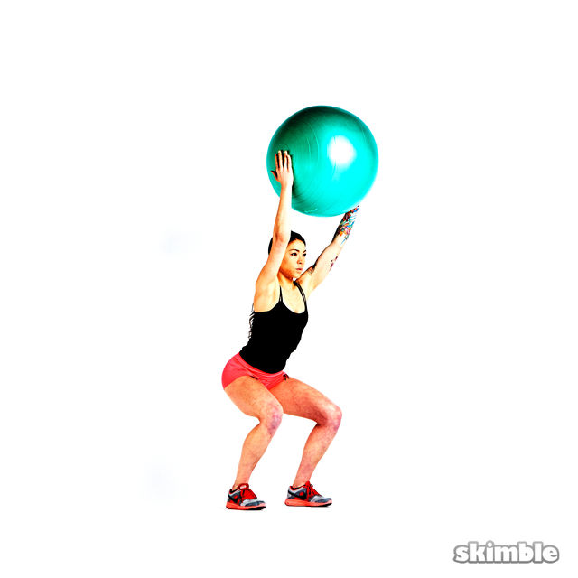 How to do: Overhead Squat with Ball - Step 3