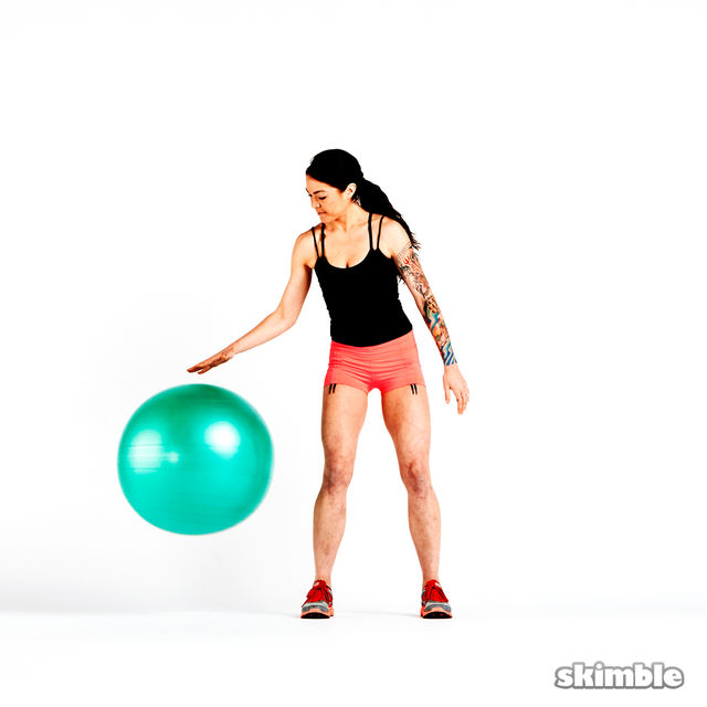 How to do: Stability Ball Dribble - Step 3