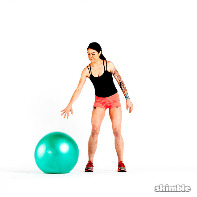 How to do: Stability Ball Dribble - Step 2