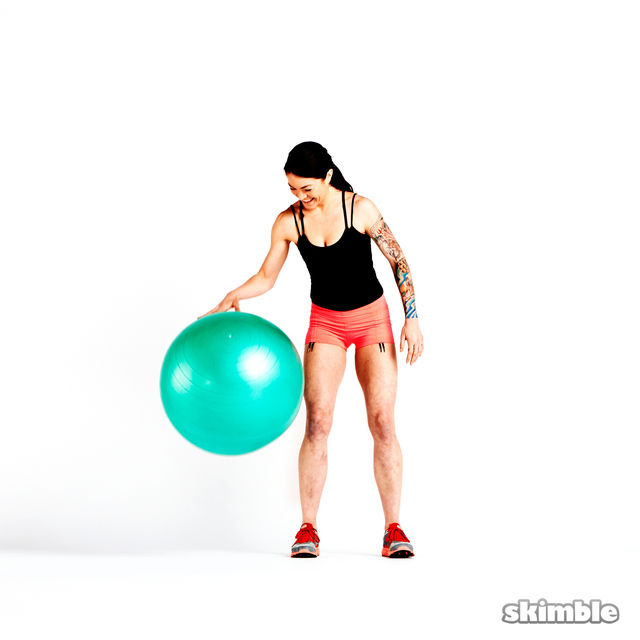 How to do: Stability Ball Dribble - Step 1