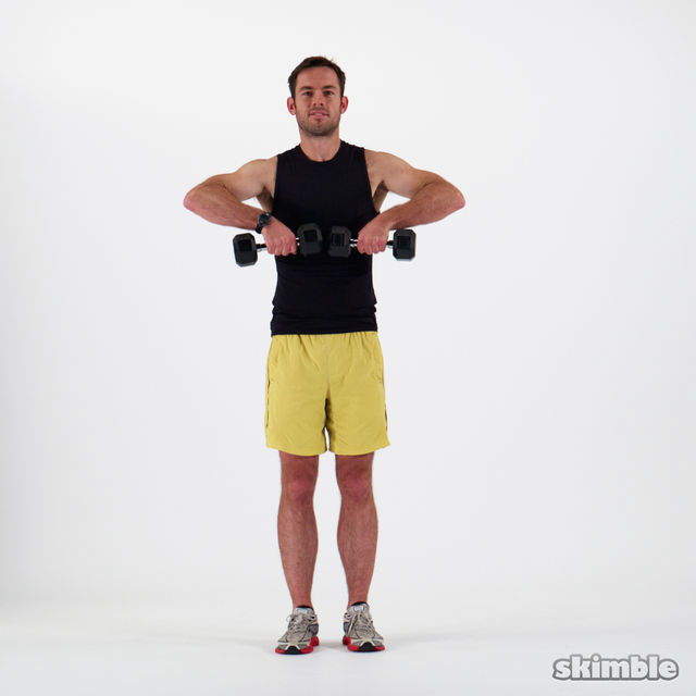 How to do: Dumbbell Upright Rows - Step 4