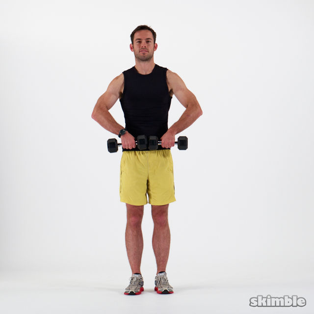 How to do: Dumbbell Upright Rows - Step 2